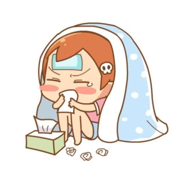女儿好像有些感冒